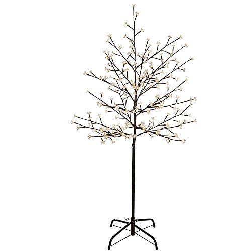 Werchristmas 5 Ft 1 5 M Pre Lit Illuminated Cherry Blossom Tree With 200 Led Warm White Cherry Blossom Tree Blossom Trees Outdoor Fairy Lights
