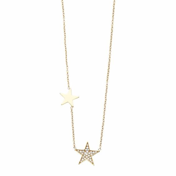 NWT Michael Kors Gold & Crystal Star Necklace NWT Michael Kors Gold & Crystal Star Necklace...Simple yet striking, this crystal-set star necklace will lend your everyday look a sparkling finish. Gold-tone chain necklace with lobster clasp fastening. Two star pendants with one crystal pave star. *All of my MICHAEL KORS jewelry includes BOTH the embossed Michael Kors box and signature pouch...Please note that items listed as 'NEW' have been purchased by me directly from either the manufacture…