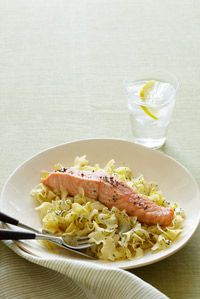 salmon and egg noodles