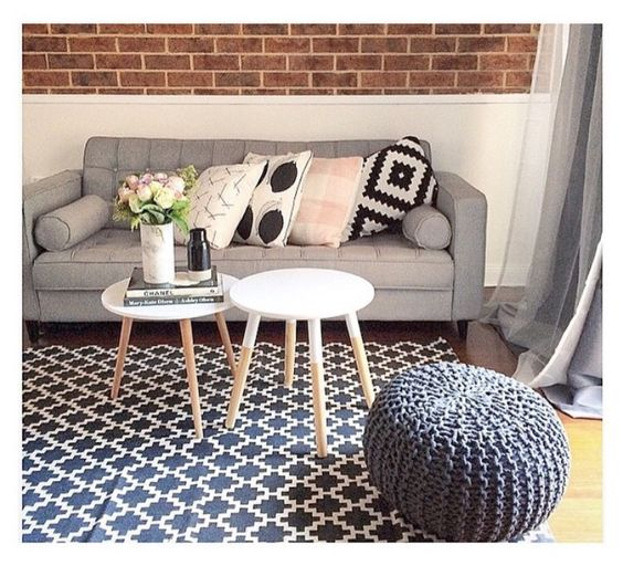 Rug, coffee tables & ottoman from Kmart Australia  HOME  ~ 204352_Living Room Ideas Kmart