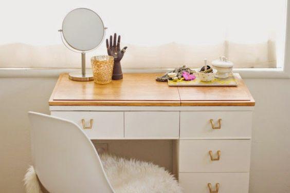 Antic&Chic. Decoración Vintage y Eco Chic: [DIY] De antigua mesa de costura a tocador Chic