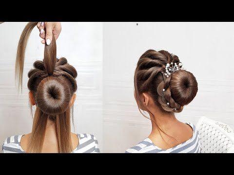 Kak Legko Sdelat Svadebnuyu I Vechernyuyu Prichesku Puchok Na Dlinnye Volos Youtube In 2020 Hair Styles Bun Hairstyles For Long Hair Simple Prom Hair