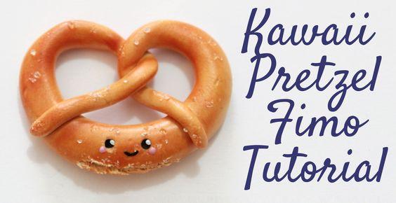 [Fimo Friday] Kawaii Pretzel Fimo Tutorial/ Kawaii Pretzel polymer clay ...