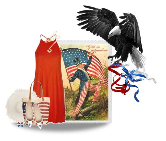 """""""Independence Day"""" by sharonbeach ❤ liked on Polyvore featuring Polaroid, Topshop, Clyde, Style & Co., ASOS, Ottoman Hands and 4th"""