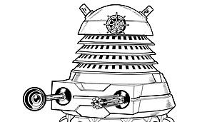Monster Colouring-in Pack, 3 official Doctor Who coloring pages