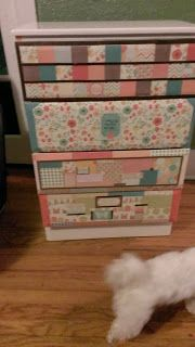 Girl's DIY Decoupage Dresser | DIY for the broke girl - http://shabbychicmeetsavvychic.blogspot.com/