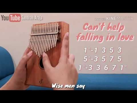 Can T Help Falling In Love Kalimba Cover With Numbered Notation