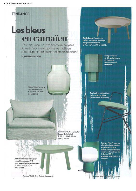 La table design de la marque Muuto vendue par goodobject dans le magazine ELLE Décoration du mois de Juin 2014.
