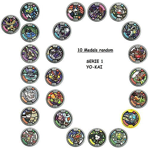 From 17 64 Anime Yo Kai Watch Medal Series 1 Mega Value 10 Pack 10x Random Styles Supplied Kai Medals Youkai Watch