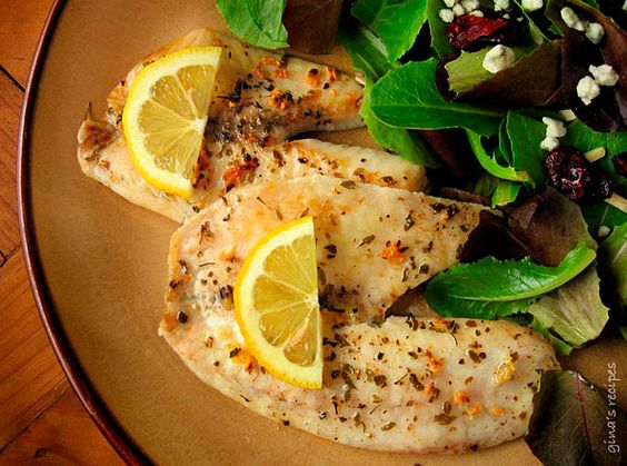 Tilapia with Garlic--Delicious, easy, quick, healthy dinner but blackened instead.