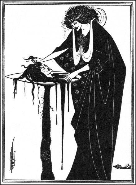 """Обри Винсент Бёрдслей (Aubrey Vincent Beardsley),Серия иллюстраций к """"Саломее"""" Оскара Уайльда."""