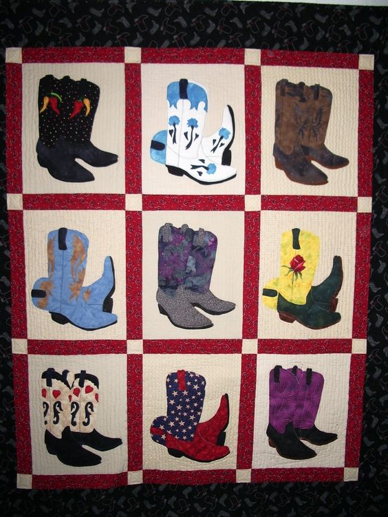 Cowboy Boot Quilt Pattern - WoodWorking Projects & Plans