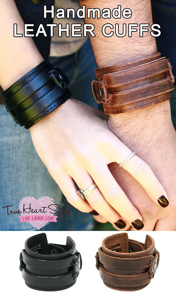 BEST SELLER - CHUNKY LEATHER CUFF BRACELET, DOUBLE METAL BELT BUCKLES http://www.trueheartstyle.com/products/chunky-leather-bracelet-with-double-buckles
