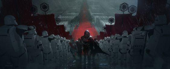 First Order Welcome Ceremony, Joshua Viers on ArtStation at https://www.artstation.com/artwork/qo5Da