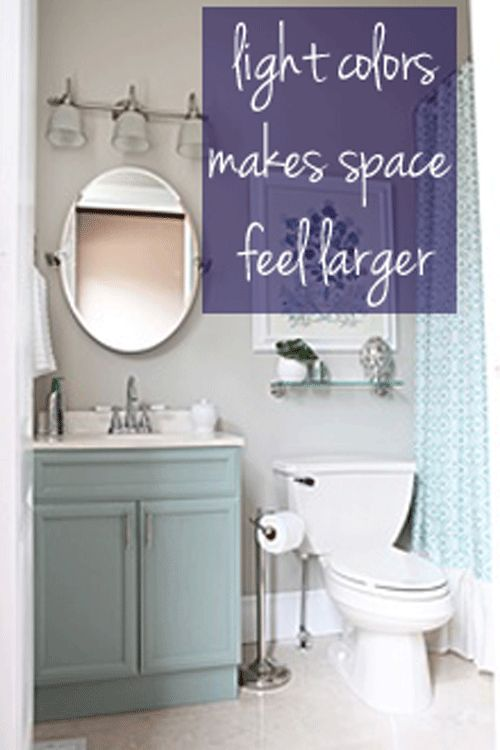 Lots Of Good Tips Here For A Small Bathroom Small Bathroom Light Colors Bathroom Pinterest