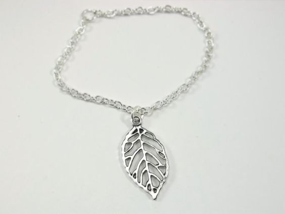 Silver Filigree Leaf Bracelet by ThePerfectHeist on Etsy, $15.00