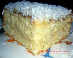 Gâteau Mont-Blanc antillais à la noix de coco