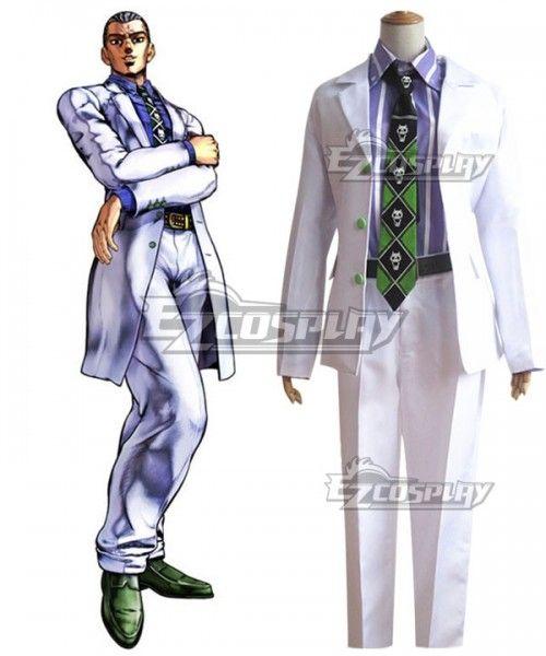 JoJo/'s Bizarre Adventure Yoshikage Kira  Uniform Cosplay Clothing Cos Costume