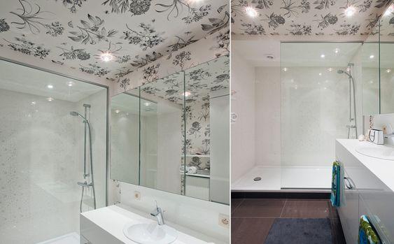 behang in de badkamer | Behangpapier | Pinterest | Interior ...