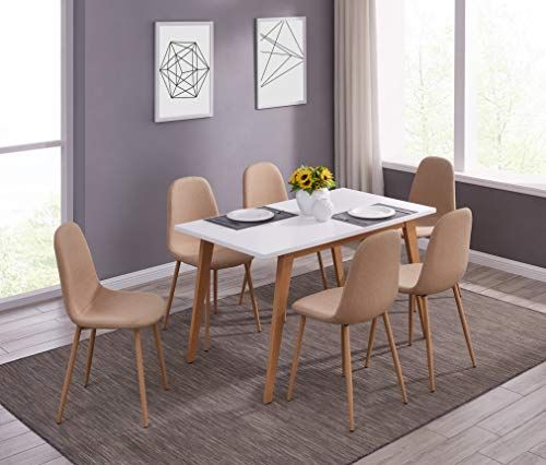 Ids Online Mlm 18748 6 Scandinavian Style Mdf Dining Table Set 7