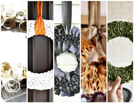 10 Simple DIY Fall Wreaths