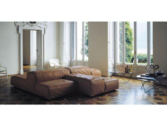 Living Divani Extra Soft bank leer klassiek interieur