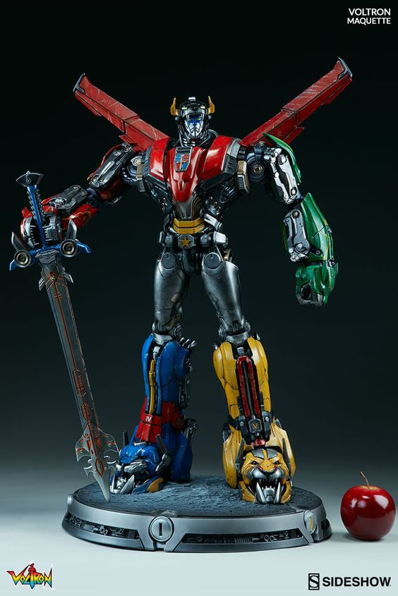 BLOG DOS BRINQUEDOS: Voltron: Defender of the Universe Maquette