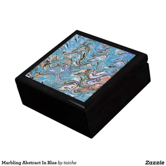 Marbling Abstract In Blue Keepsake Box Marbling Abstract In Blue Keepsake Box http://www.zazzle.com/marbling_abstract_in_blue_keepsake_box-246131479524930050?CMPN=shareicon&lang=en&social=true&view=113673705412661583&rf=238616195033801520