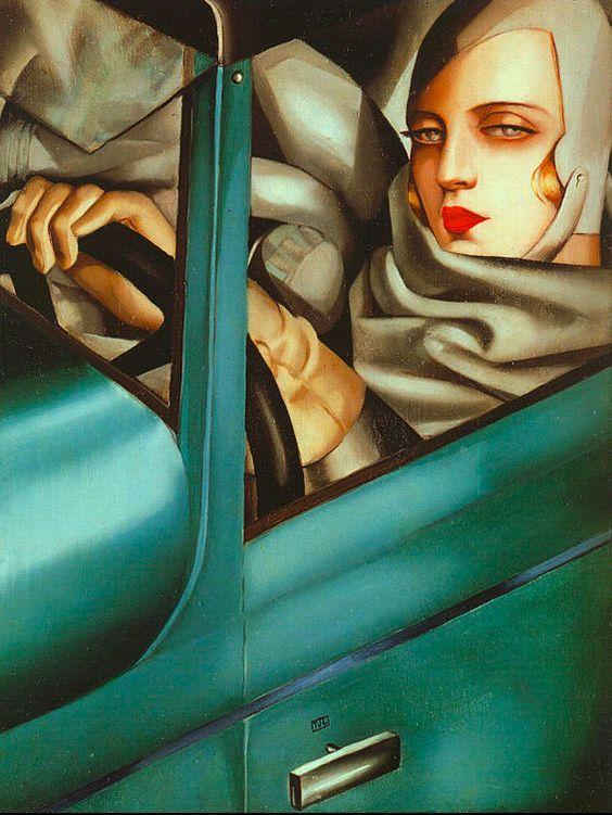Tamara de Lempicka. Me evoca la imagen de una mujer indeseable, fría, que debemos mantener lejos de nosotros. Dejemos que se vaya cuanto antes en su coche, lo más rápido posible. Déjame tranquilo.