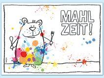Tischset - MAHLZEIT - Bär mit Klecksen