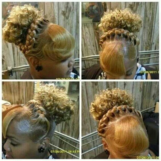 Magnificent Updo Under Braids And Natural On Pinterest Short Hairstyles Gunalazisus