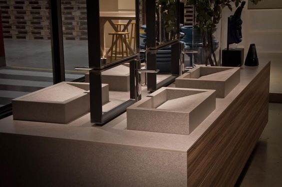 Amazing #porcelain bathroom countertop and washbasin. iTOPKer solutions