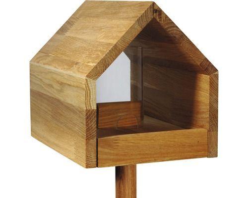 Vogelfutterhaus Mit Satteldach 28x20x22 Cm Eiche Birdhouse 28x20x22 Birdhouse Cm Eiche Mit Satte Vogelfutterhaus Futterhaus Vogelhaus Ideen