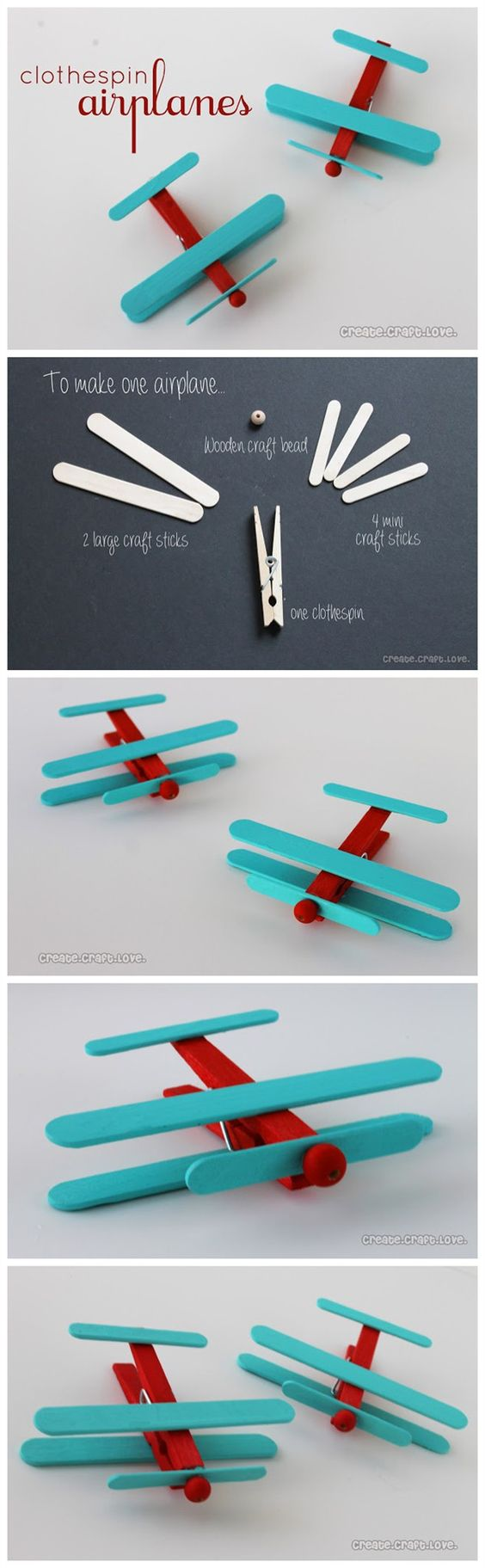 #Diy Clothespin #Airplanes #Tutorials: