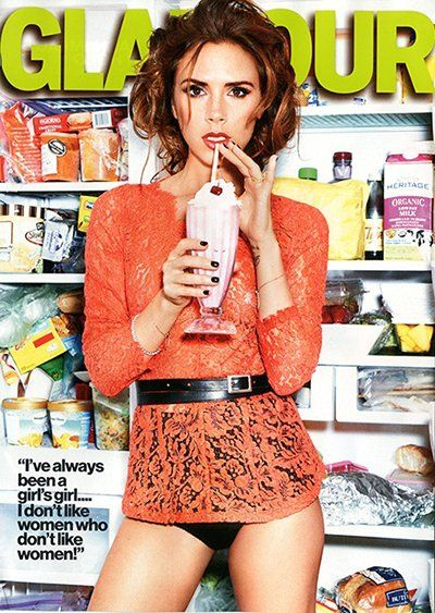 """Celeb Diary: Victoria Beckham in revista """"Glamour"""" (septembrie 2012)"""