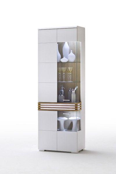 weiße vitrine l loop mit glastür #weiß #möbel #wohnzimmer #vitrine ... - Wohnzimmer Vitrine Modern