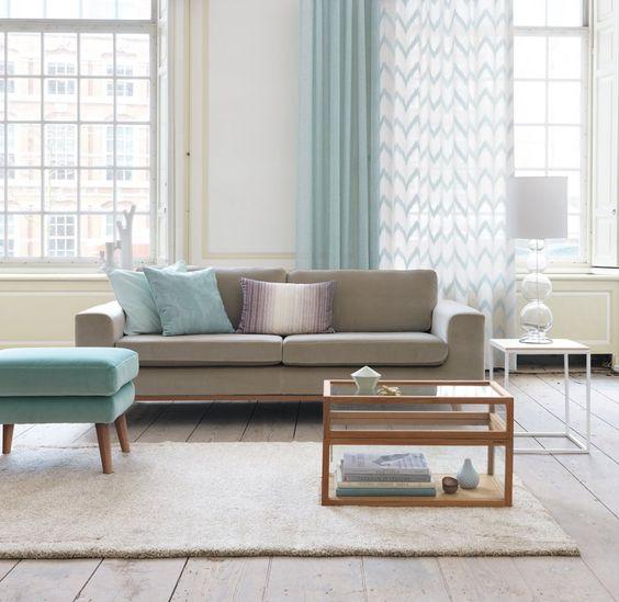 rideau les derni res nouveaut s pour habiller ses fen tres avec l gance gris tables et bleu. Black Bedroom Furniture Sets. Home Design Ideas