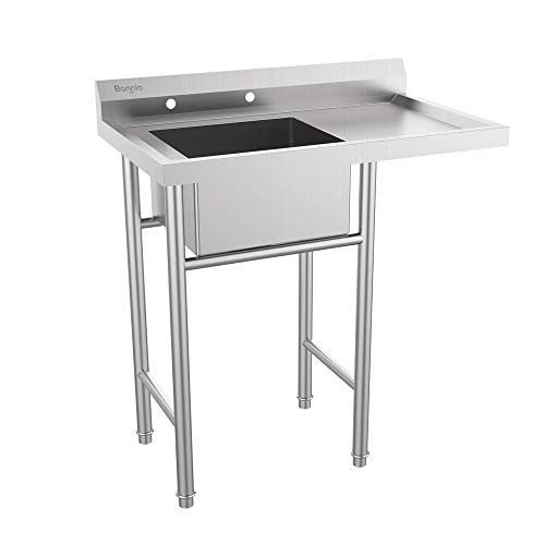 Bonnlo Upgraded 304 Stainless Steel Utility Sink With Dra Https