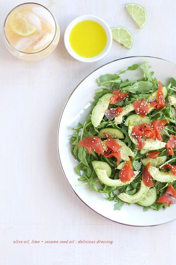 Arugula Smoked Salmon & Avocado Salad