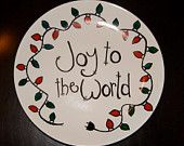 Decorative Christmas Plate order on Etsy at Sweet Louise Designs