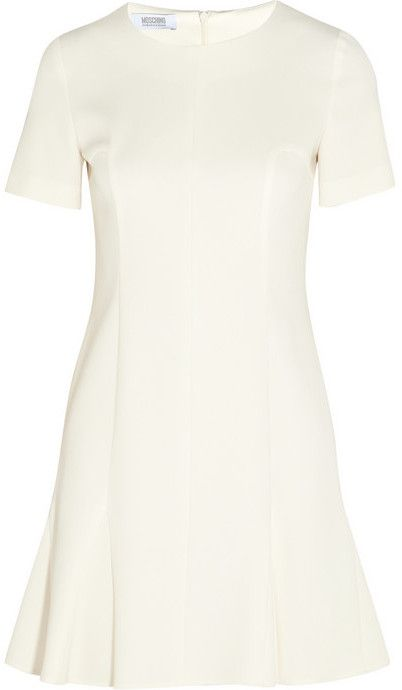 Moschino Cheap & Chic Paneled crepe mini dress on shopstyle.com