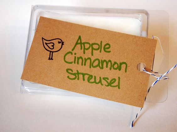 Apple Cinnamon Streusel Scented Soy Wax by MollyBeesCreations, $3.50