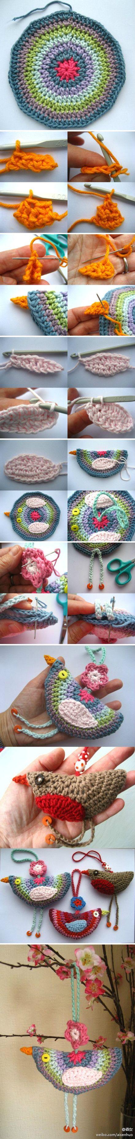 Amigurumi Bird Tutorial : Crochet birds, Birds photos and Photo tutorial on Pinterest