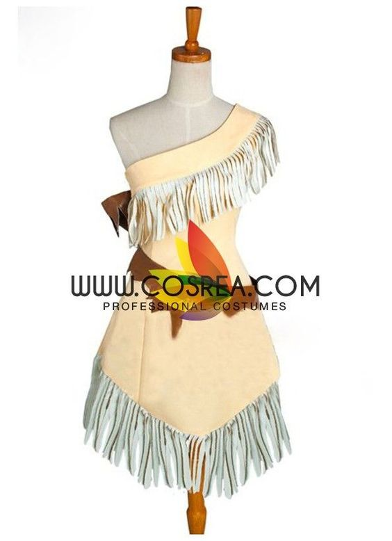 Pocahontas Light Yellow With Tassel Cosplay Costume