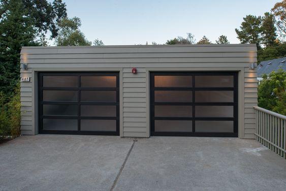 Flat Roof Double Door Garage | Garages | Pinterest | Flat Roof, Doors And  Steel Frame Construction