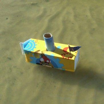 Vitorlás hajó készítése gyerekekkel