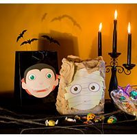 And dress up for halloween turn an ordinary brown bag into a festive