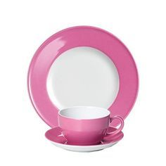 #Dibbern Solid Color Pink - Frühstücksgedeck