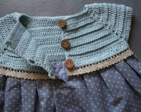 Cotton Vintage Style Baby Girl Dress Crochet by atelierbagatela: