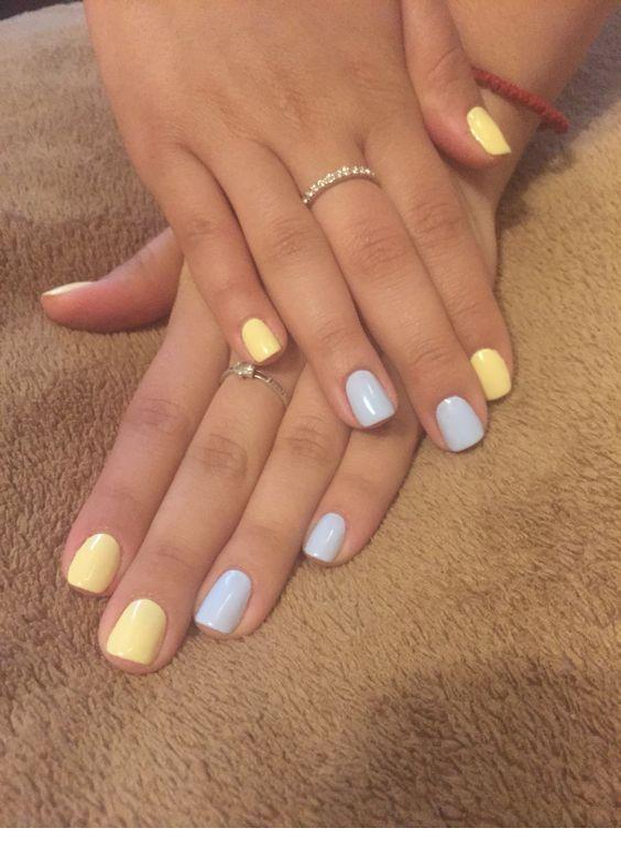 Yellow And Grey Nails Inspiring Ladies Yellow Nails Yellow Nails Design Nail Designs